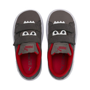 Thumbnail 6 of PUMA Smash v2 Monster Babies' Trainers, Asphalt-C. Gray-Red-White, medium