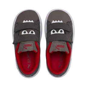 Thumbnail 6 of PUMA Smash v2 Monster Toddler Shoes, Asphalt-C. Gray-Red-White, medium