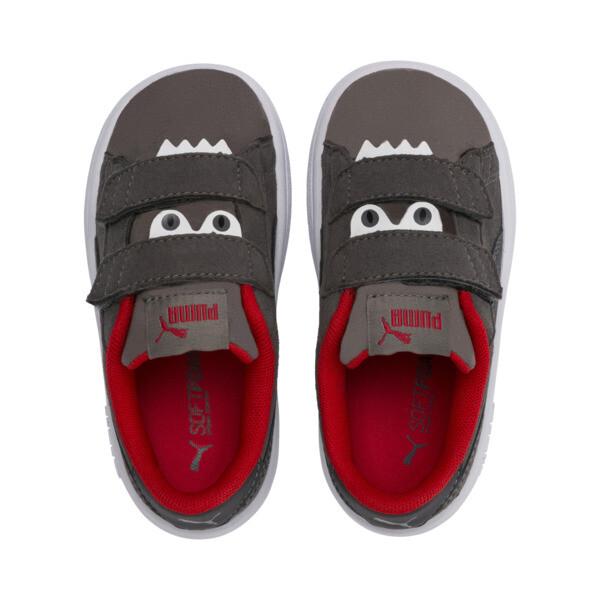 PUMA Smash v2 Monster Toddler Shoes, Asphalt-C. Gray-Red-White, large