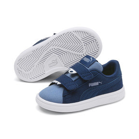 Thumbnail 7 of PUMA Smash v2 Monster Babies' Trainers, Gibraltar Sea-Faded Denim, medium