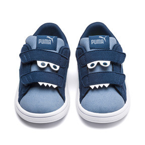 Thumbnail 2 of PUMA Smash v2 Monster Babies' Trainers, Gibraltar Sea-Faded Denim, medium