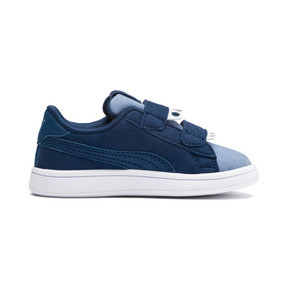Thumbnail 6 of PUMA Smash v2 Monster Babies' Trainers, Gibraltar Sea-Faded Denim, medium