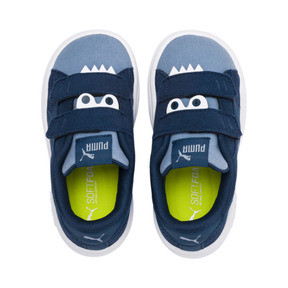 Thumbnail 4 of PUMA Smash v2 Monster Babies' Trainers, Gibraltar Sea-Faded Denim, medium
