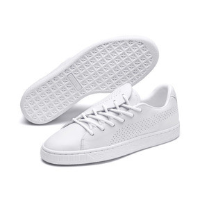Thumbnail 8 of Basket Crush Perf Women's Sneakers, Puma White-Puma White, medium