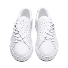 Thumbnail 3 of Basket Crush Perf Women's Sneakers, Puma White-Puma White, medium