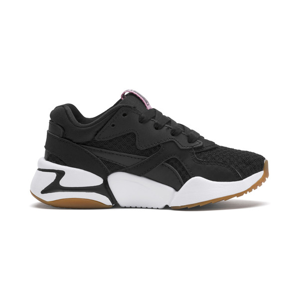 Nova '90s Bloc Kid Girls' Trainers, Puma Black, large