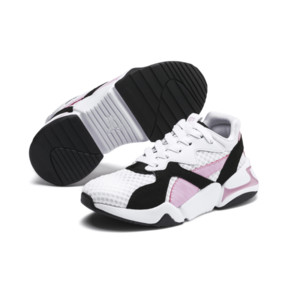 Thumbnail 2 of Nova '90s Bloc Kid Girls' Trainers, Puma Black-Puma White, medium