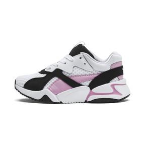 Thumbnail 1 of Basket Nova '90s Bloc Kids pour fille, Puma Black-Puma White, medium