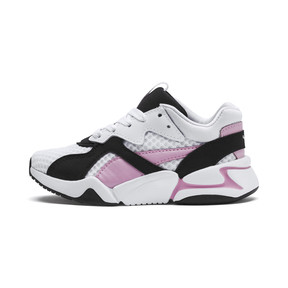 Thumbnail 1 of Nova '90s Bloc Kid Girls' Trainers, Puma Black-Puma White, medium