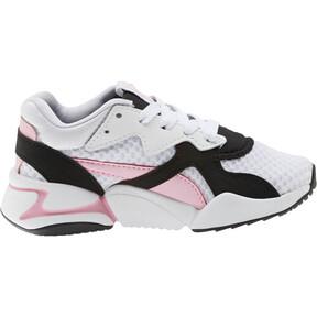 Thumbnail 4 of Nova '90s Bloc Sneakers PS, Puma Black-Puma White, medium
