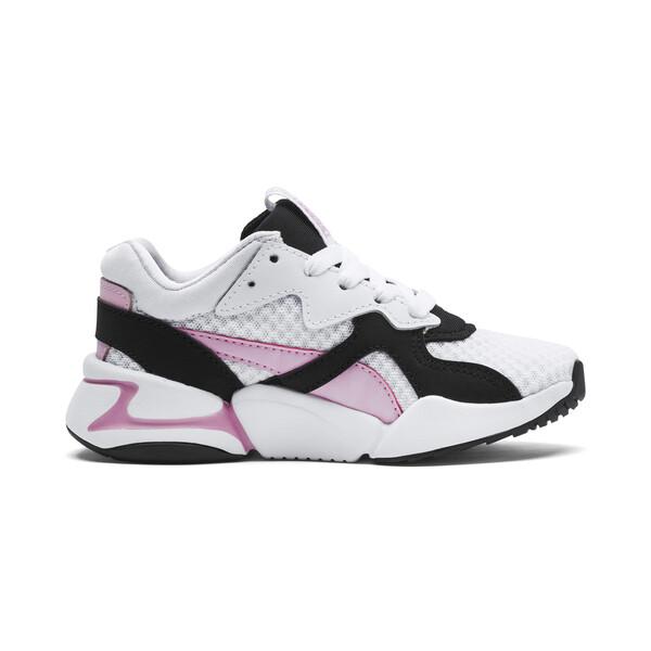Dziewczęce tenisówki Nova '90s Bloc, Puma Black-Puma White, obszerny