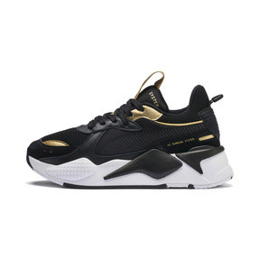 Thumbnail 1 of RS-X Trophy Youth Trainers, Puma Black-Puma Team Gold, medium