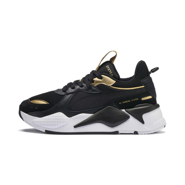 RS-X Trophy Youth Sneaker, Puma Black-Puma Team Gold, large