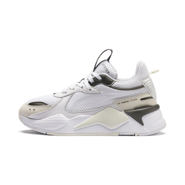 RS-X Trophy Youth Trainers, Puma White-Bronze, large