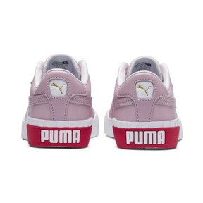 Thumbnail 3 of Basket Cali pour enfant fille, Puma White-Hibiscus, medium