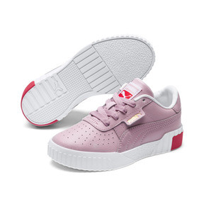 Thumbnail 2 of Basket Cali pour enfant fille, Puma White-Hibiscus, medium