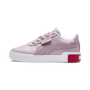 Thumbnail 1 of Cali Girls' Trainers, Puma White-Hibiscus, medium