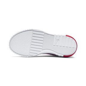 Thumbnail 3 of Cali Girls' Trainers, Puma White-Hibiscus, medium