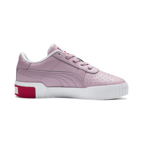 Thumbnail 5 of Basket Cali pour enfant fille, Puma White-Hibiscus, medium