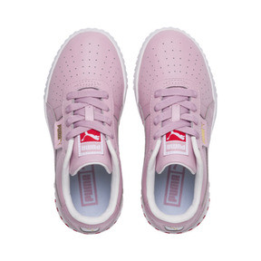 Thumbnail 6 of Cali Girls' Trainers, Puma White-Hibiscus, medium
