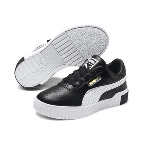 Thumbnail 2 of Cali Girls' Trainers, Puma Black-Puma Team Gold, medium