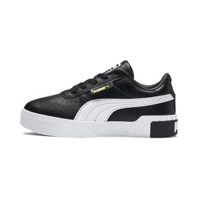 Thumbnail 1 of Cali Girls' Trainers, Puma Black-Puma Team Gold, medium