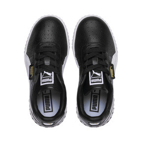 Thumbnail 6 of Cali Girls' Trainers, Puma Black-Puma Team Gold, medium