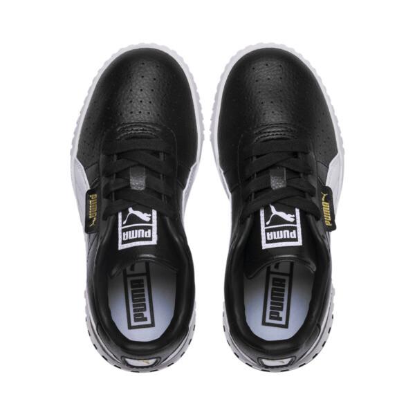 Zapatos Cali Little para niños, Puma Black-Puma Team Gold, grande