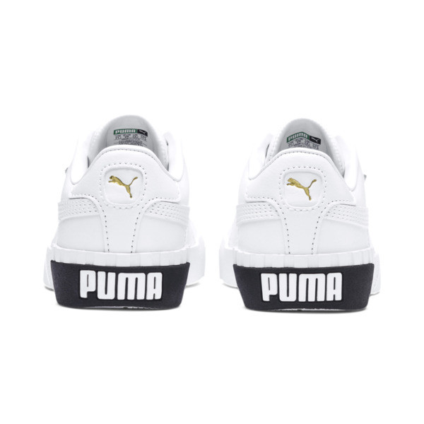 Cali Girls' Trainers, Puma White-Puma Black, large