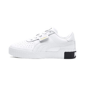 Thumbnail 1 of Cali Girls' Trainers, Puma White-Puma Black, medium