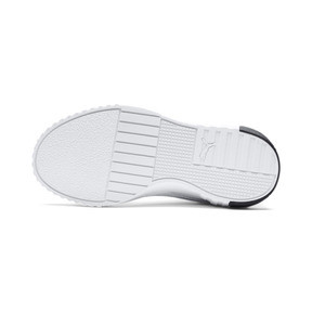 Thumbnail 4 of Cali Girls' Trainers, Puma White-Puma Black, medium