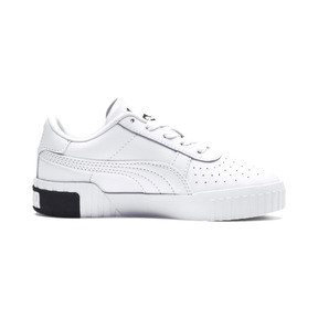Thumbnail 5 of Cali Girls' Trainers, Puma White-Puma Black, medium