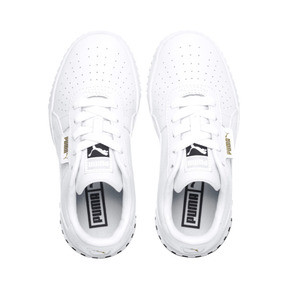 Thumbnail 6 of Cali Girls' Trainers, Puma White-Puma Black, medium