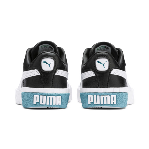 Cali Girls' Trainers, Puma Black-Milky Blue, large