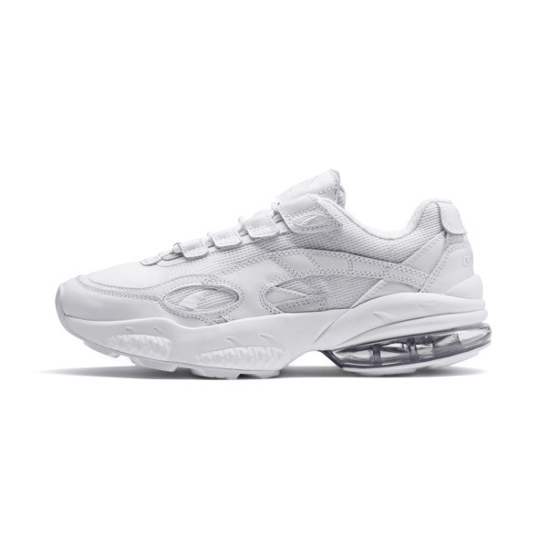 Cell Venom Reflective Trainers, Puma White-Puma White, large