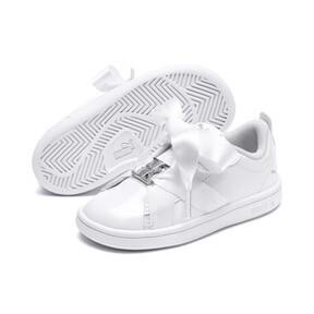 Thumbnail 2 of PUMA Smash v2 Patent Buckle AC Little Kids' Shoes, Puma White-Puma Silver, medium