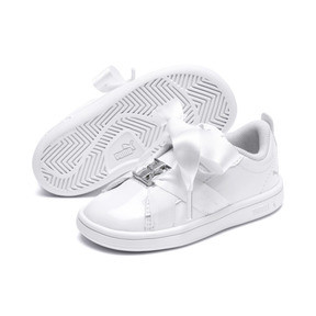 Thumbnail 1 of PUMA Smash v2 Patent Buckle AC Little Kids' Shoes, Puma White-Puma Silver, medium