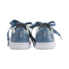 Thumbnail 3 of PUMA Smash v2 Patent Buckle AC Little Kids' Shoes, Bluestone-Puma Silver-White, medium