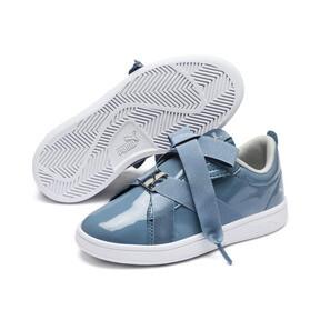Thumbnail 2 of PUMA Smash v2 Patent Buckle AC Little Kids' Shoes, Bluestone-Puma Silver-White, medium