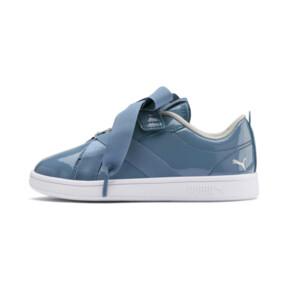 Thumbnail 1 of PUMA Smash v2 Patent Buckle AC Little Kids' Shoes, Bluestone-Puma Silver-White, medium