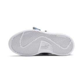 Thumbnail 4 of PUMA Smash v2 Patent Buckle AC Little Kids' Shoes, Bluestone-Puma Silver-White, medium