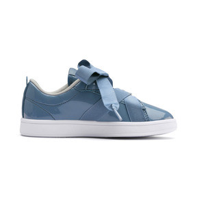 Thumbnail 5 of PUMA Smash v2 Patent Buckle AC Little Kids' Shoes, Bluestone-Puma Silver-White, medium
