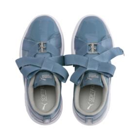 Thumbnail 6 of PUMA Smash v2 Patent Buckle AC Little Kids' Shoes, Bluestone-Puma Silver-White, medium