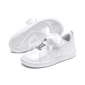 Thumbnail 2 of PUMA Smash v2 Patent Buckle AC Sneakers INF, Puma White-Puma Silver, medium