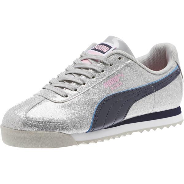 Roma Glam Sneakers JR, Gray Violet-Peacoat, large