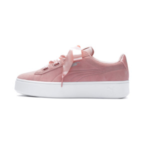 Thumbnail 1 of PUMA Vikky Stacked Ribbon Women's Trainers, Peach Bud-Peach Bud, medium
