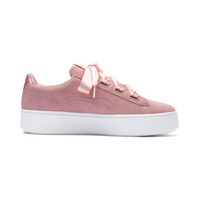 Thumbnail 5 of PUMA Vikky Stacked Ribbon Women's Trainers, Peach Bud-Peach Bud, medium