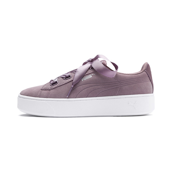PUMA Vikky Stacked Ribbon Women's Trainers, Elderberry-Elderberry, large