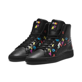 Thumbnail 4 of PUMA x BRADLEY THEODORE Basket Mid Trainers, Puma Black, medium