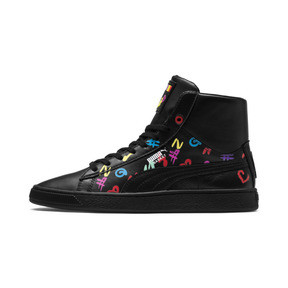 Thumbnail 1 of PUMA x BRADLEY THEODORE Basket Mid Trainers, Puma Black, medium
